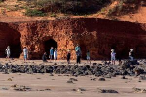 Great shot taken during a recent DCMG excursion - The red cliffs of Reddell Beach put us all in perspective