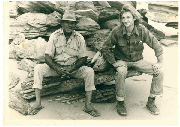 Paddy Roe and Stephen Muecke Broome circa 1979