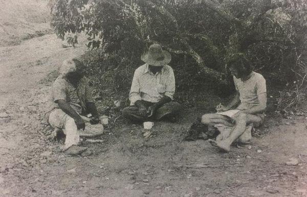 Stephen Muecke with Paddy Roe and Butcher Joe