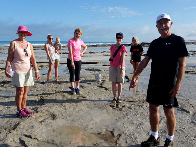 Theropod trackway on Cable Beach - photo credit Shane Thompson